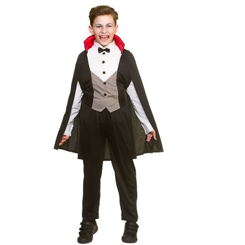 Boys Bloodthirsty Vampire Costume for Vampire Dracula Fancy Dress